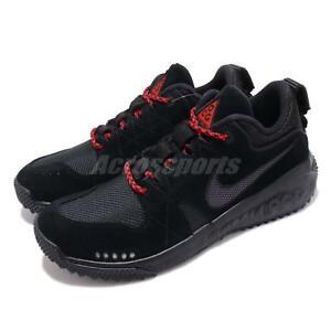 0e57f5b59c5 Nike ACG Dog Mountain Black Grey Red Men Women Outdoors Trail Shoes ...