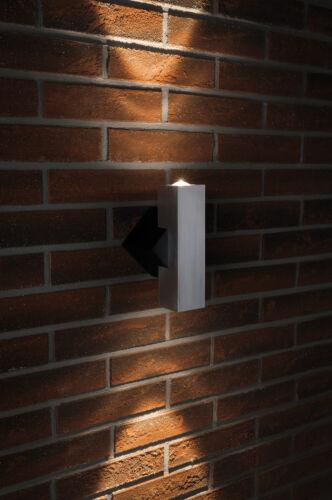 PAULMANN SPECIAL costruzione Lampada Set 2 Flame rettangolare ip44 LED 2x1w 230v Nero//Alu G