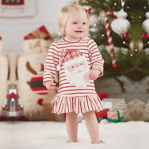 Toddler-Kids-Baby-Girl-Christmas-Santa-Striped-Tutu-Skirt-Dress-Long-Sleeve-Tops