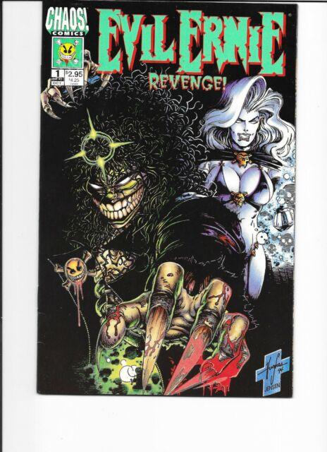 EVL ERNIE REVENGE #1 ** GLOW IN THE DARK** - 1994  - LADY DEATH  APPEARS - MINT