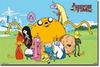 Cartoon Network Adventure Time Group Cast Poster 22x34 Free Shipping