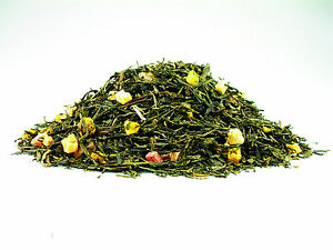 Loose-leaf-flavoured-Green-Tea-034-Mango-Papaya-034-100g