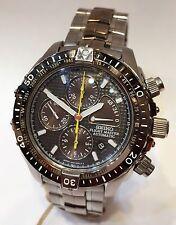 Seiko Flight Master Chrono Limited Power Reserve Auto Titanium Watch 6S37-0010
