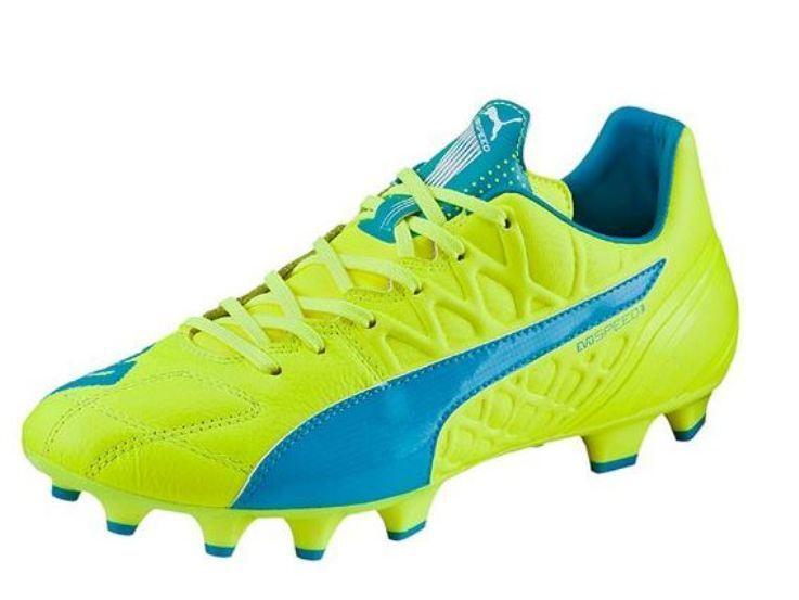 Puma evoSPEED Herren 3.4 Lth FG Herren evoSPEED Fußballschuhe 103267 04 gelb blau  NEU b5bac0