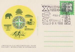 Poland postmark KATOWICE - week of writing letters - Bystra Slaska, Polska - Poland postmark KATOWICE - week of writing letters - Bystra Slaska, Polska