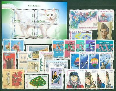3103-3135 ** Mnh Kat Türkei Jahrgang 1997 Nr 66,50 €
