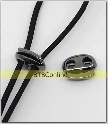 US Autism Arthritis Sports ~ Elastic No Tie shoe laces LOCK CLASP metal plastic