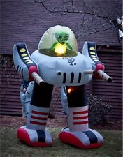 Giant 8' Inflatable Green Alien in Robot Walker Halloween Decoration