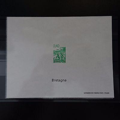 Frank Épreuve Block Gummiert Nr Briefmarken Europa 2949 Regionen/bretagne 1995 Briefmarke Non Dentelé Seien Sie In Geldangelegenheiten Schlau