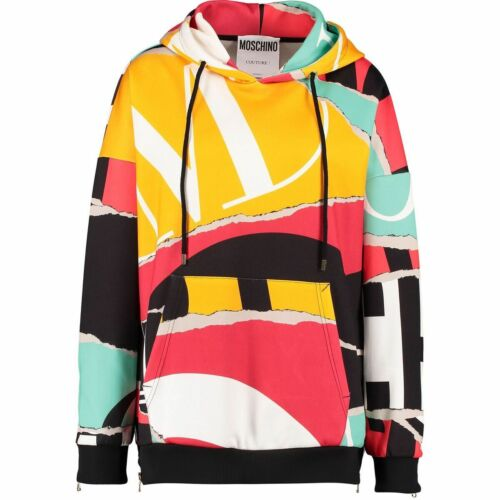 Genuine MOSCHINO COUTURE AW 15 Colourblock Hoodie size UK 10 New with Tags