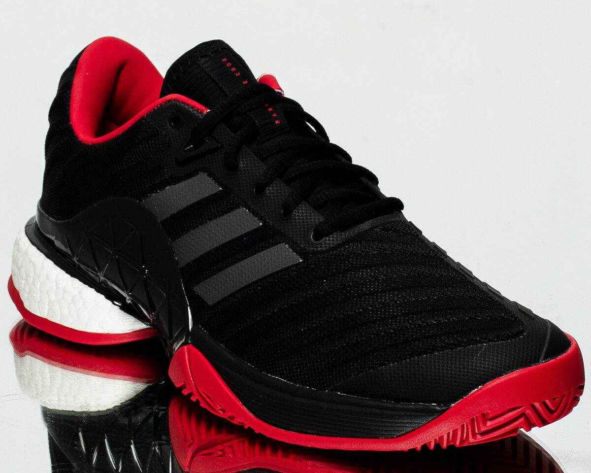 adidas Barricade 2018 Boost Homme tennis  chaussures  sneakers NEW  noir  scarlet CM7829
