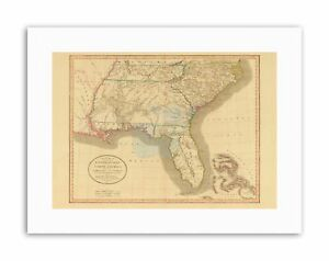 Map Of East Georgia.Details About Map Antique 1812 United States America South East Georgia Florida Canvas Art