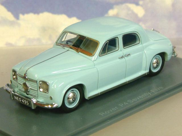 Excelente Neo 1 43 Resina 1949-52 Rover P4 setenta y cinco 75 Cíclope blu Pálido