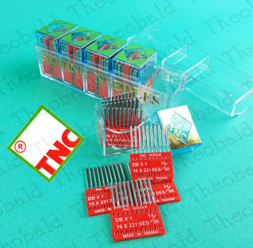 PACK OF 10 TNC INDUSTRIAL SEWING NEEDLES 16x231//DBX1 SIZE 14//90