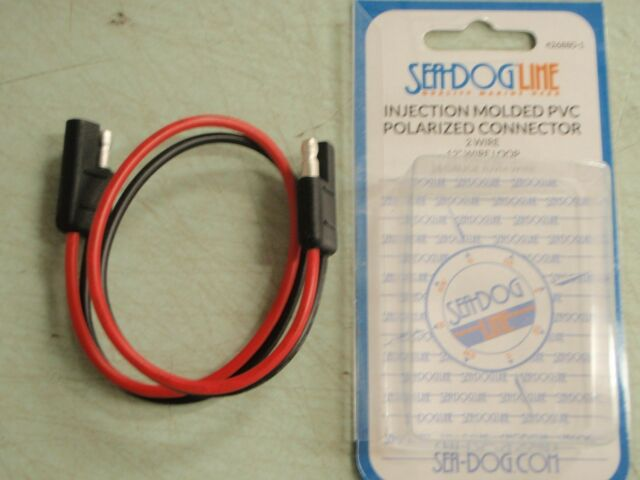 Sea Dog Polarized Connector 2-Wire Plug And Socket