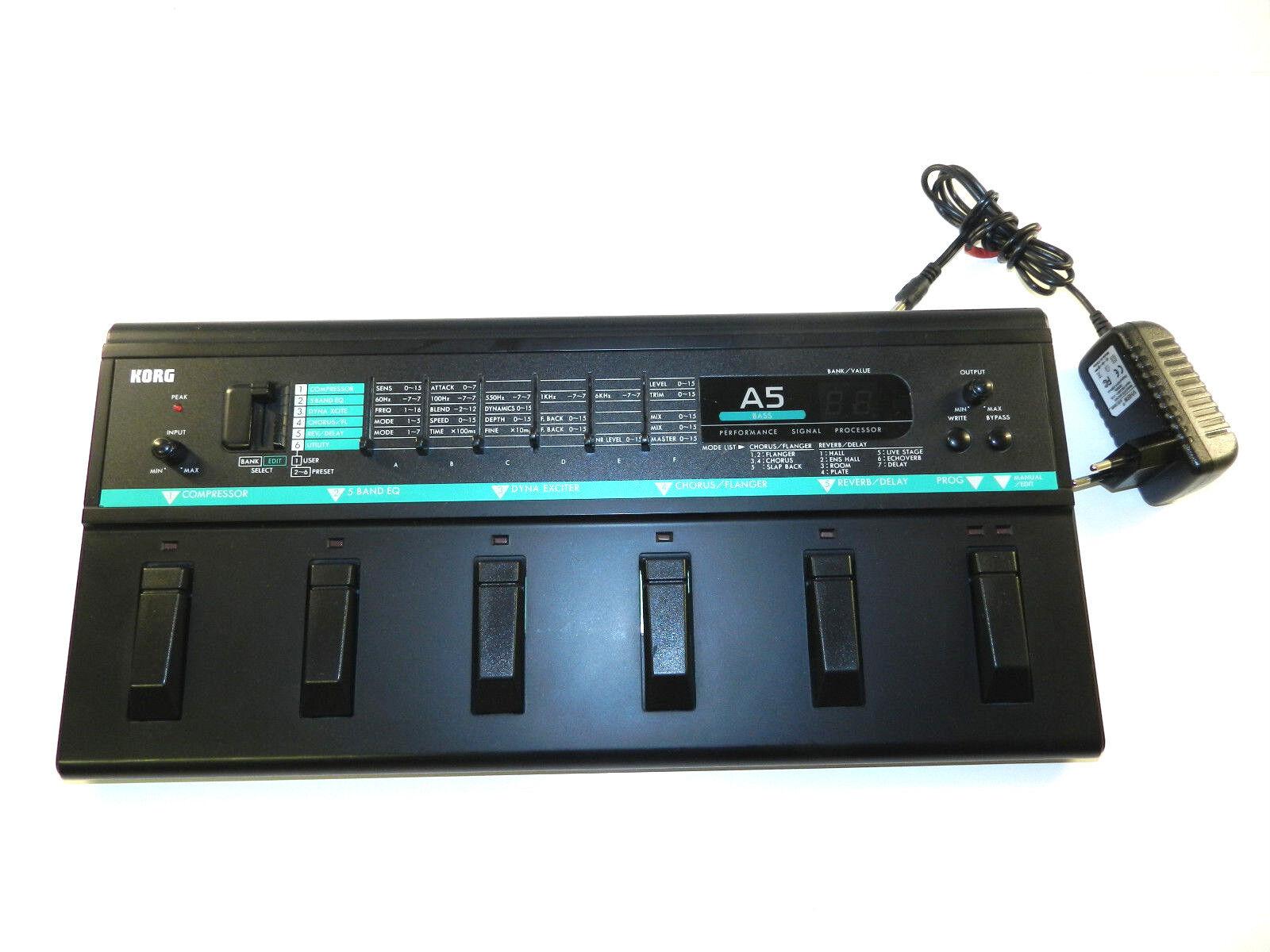 Korg A5 Bass Performance Signal Processor