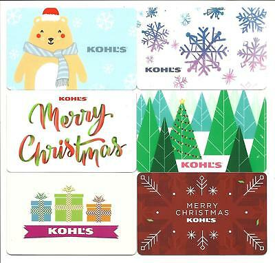 Lot of Kohl/'s Gift Cards No $ Value Collectible Christmas Snowflake Bear 6