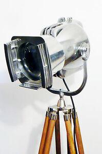 1950-039-S-VINTAGE-THEATRE-LAMP-FLOOR-LIGHT-ART-DECO-SILVER-MID-CENTURY-STRAND-RETRO