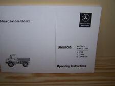 Mercedes-Benz Unimog 435 U1300L U1700L manual de instrucciones-Nuevo