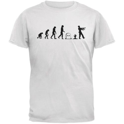 Halloween Zombie Evolution White Adult T-Shirt