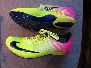 hot sale online 7fc22 2265f Image is loading Nike-Zoom-Celar-5-Track-Spikes-Men-Volt-