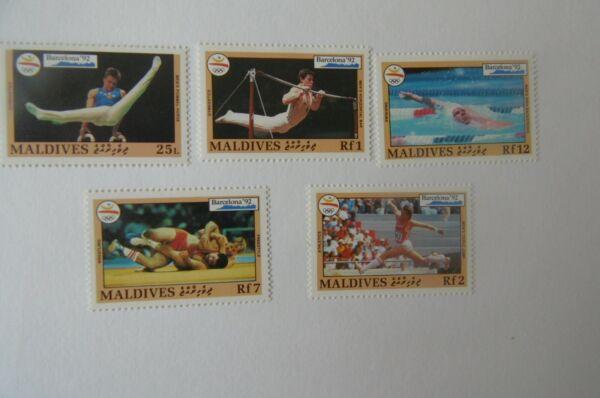 FidèLe (23410) Maldives Neuf Sans Charnière Jeux Olympiques 1992 Set Qualité SupéRieure (En)