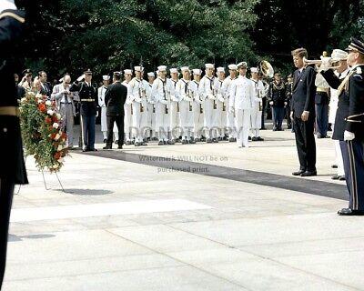 Kennedy lays wreath in Wexford Ireland New 8x10 Photo President John F