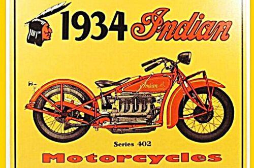 Aimant Bouclier Réfrigérateur Magnétique 1934 Indian-Moto Aimant nostalgie Oldtimer