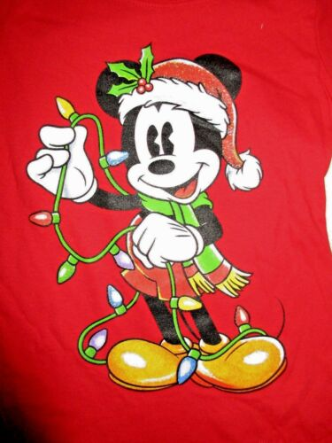 Disney Mickey Mouse Singing Shirt Sings Santa Hat Christmas Lights ...
