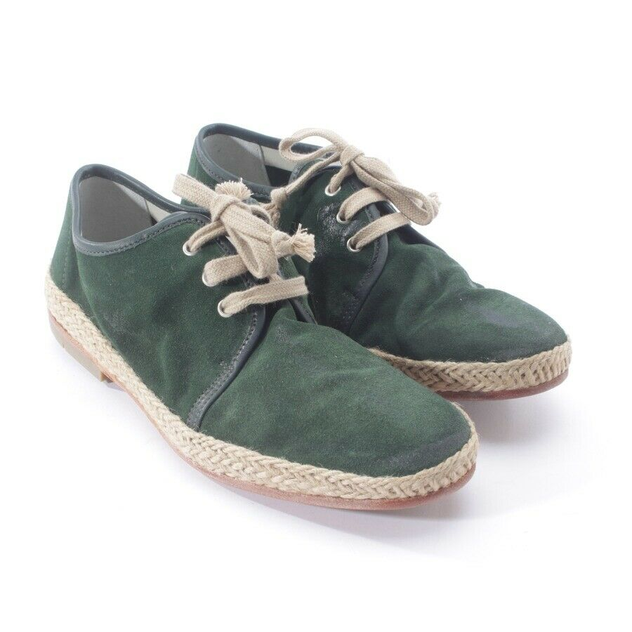 N.d. C. Low shoes Size D 40 Green Men's shoes shoes Lace up Loafers Flats