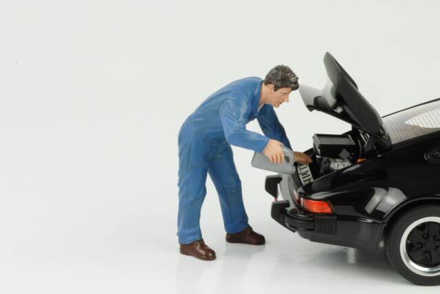 Mecánico Taller Doug Füllt Aceite Figura Figuras 1:18 American Diorama