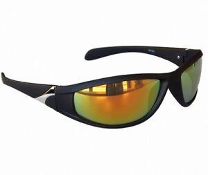 Sportbrille Sonnenbrille Radbrille Black Blau verspiegelt Polarisierte Brille M4 71exvVIA