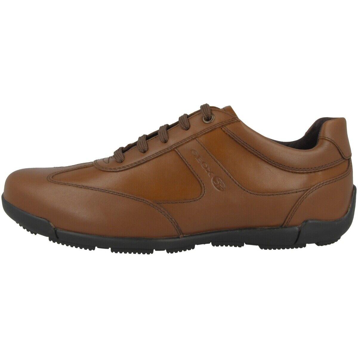 Geox U Edgware C shoes Mens Sneakers Leather Half shoes Cognac U843BC043BCC6001