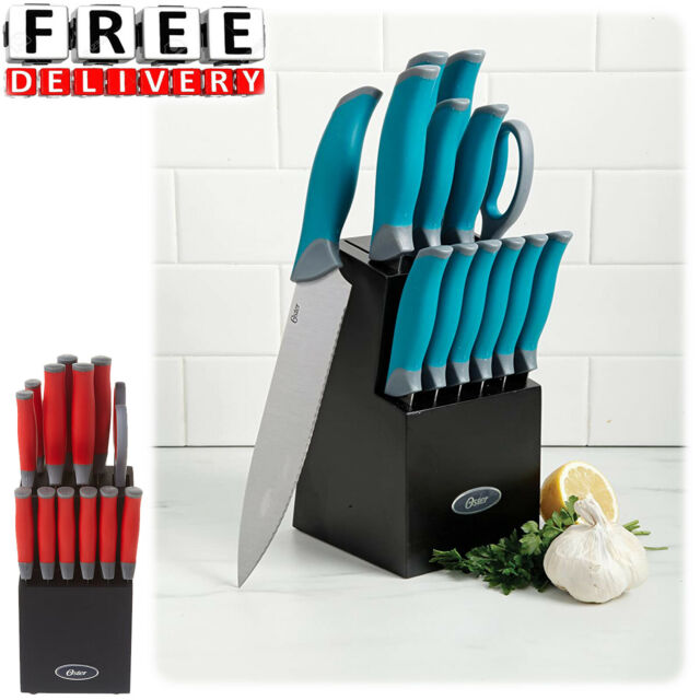 Family Chef Stainless Steel 11 Piece Knife Block Set Red Cutting Slicing For Sale Online Ebay