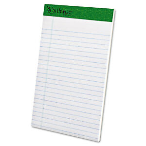 Earthwise by Ampad Recycled Writing Pad Narrow 5 x 8 White Dozen 20152