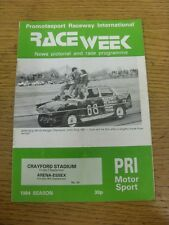 07/09/1984 Raceweek: News Pictorial & Race Programme - Crayford Stadium & 09/09/