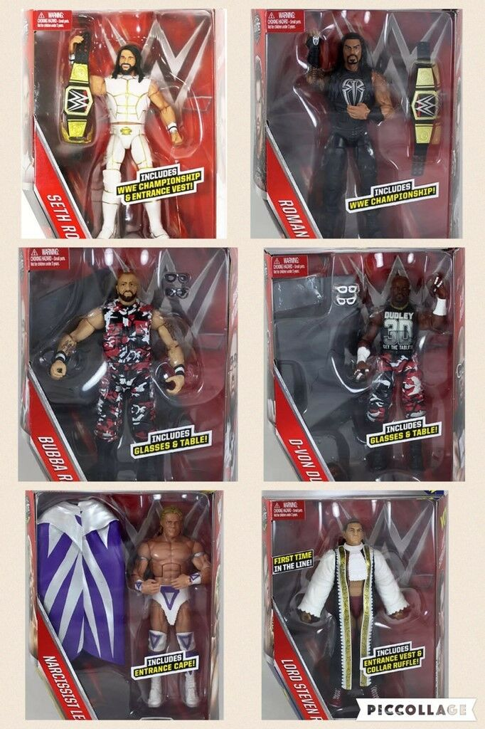 Wwe Serie Elite 45 Wrestling Action Figure Serie Accessori Lottatori Cintura