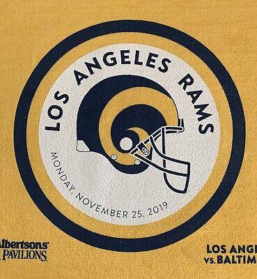 Los Angeles La Rams Vs Ravens Sga Old School Design Mnf Rally Towel 11 25 19 Ebay
