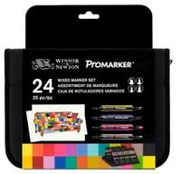 Trousse 24 Mixed Promarker Winsor&newton Double Pointe Base Alcool Etudiant