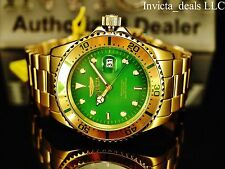 Invicta Men's Pro Diver Japanese Quartz Green Dial Gold IP Coin Edge Bezel Watch