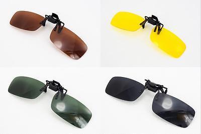 Flip Up Clip On Sun Glasses Sunglasses fir Driving Car Holiday Fishing Polarized