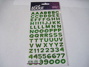 """Sticko FUN HOUSE MULTI COLOR ALPHA METALLIC SM Pack of 5//8/"""" Letters /& Numbers"""