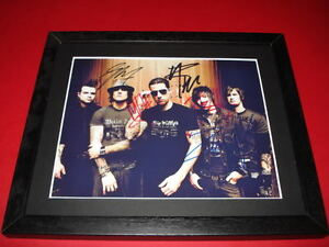AVENGED-SEVENFOLD-THE-REV-SIGNED-MOUNTED-FRAMED-10X8-REPRO-PHOTO-PRINT