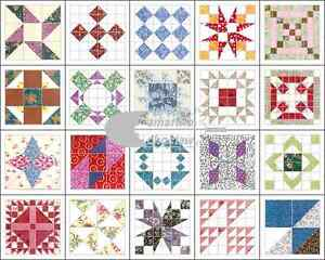 Quilt-Block-Iron-On-Appliques-100-cotton-20-assorted-1-5-034-x1-5-034