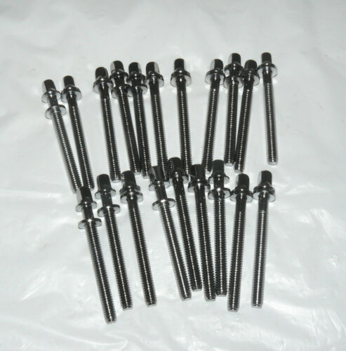 """20 NEW Chrome Drum Tension Rods 52mm//2/"""" Part for Tom Snare Build Repair Restore"""