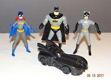 1993 DC: Batman: McDonald's Promo Toys: Batman, Catwoman, Batgirl, Batmobile
