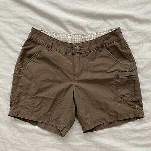 Columbia-Womens-Cargo-Hiking-Shorts-Brown-Size-4