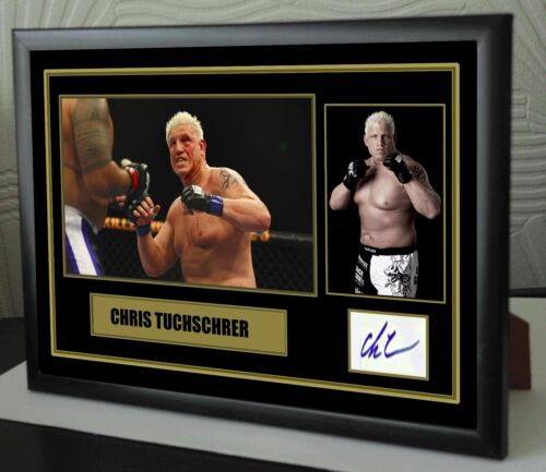 "Ghris Tuchshrer UFC canvas tribute signed Limited Edition ""Great Gift """
