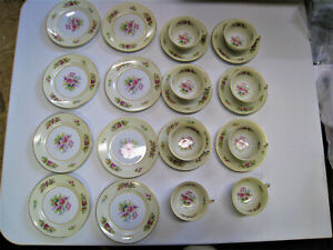 Beautiful-Noritake-Cup-and-Saucer-Set-with-Occupied-Japan-Plates