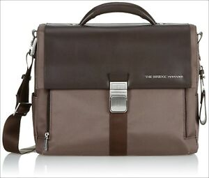 d9b333243d Image is loading The-Bridge-Wayfarer -Brown-Ballistic-Nylon-Briefcase-Shoulder-